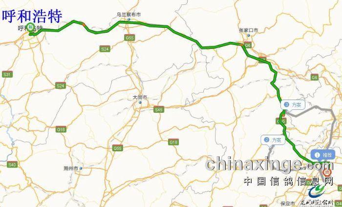 呼和浩特—机场高速—京藏高速—张石高速—京新